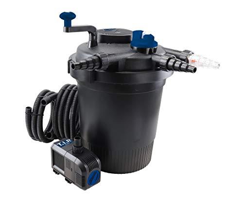 T.I.P. TFP 15000 UV 13 Filtre à pression pour bassin avec indicateur de pollution Noir