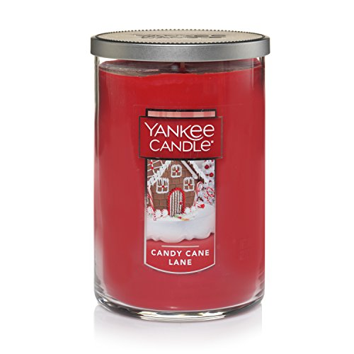 Yankee Candle Large Jar 2 Wick Candy Cane Lane Scented Tumbler Premium Grade Candle Wax with up to 110 Hour Burn Time