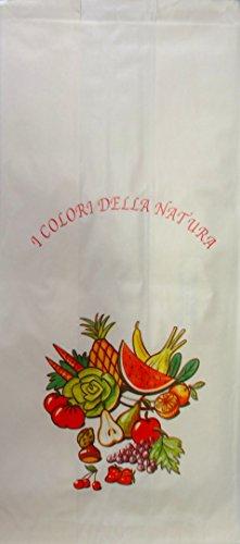 Sacs de papier de mélèze pour les fruits et légumes-Boîte de 10 Kg sachets de papier-résistant à l'humidité Idéal pour confectionner des fruits et légumes cm. 20x44
