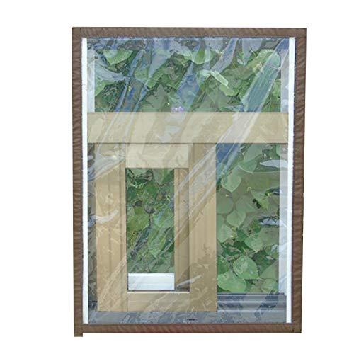 Lihuzmd Fensterisolierfolie, Voll versiegelte transparente Isolierfolie im Winter Haushaltswarme und Winddichte Kunststoffplatte, kann individuell angepasst Werden,Braun,160x150cm