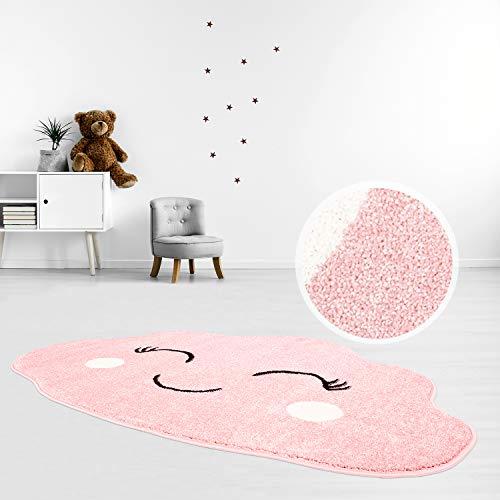 MyShop24 - Alfombra infantil (100 x 150 cm), diseño de nube feliz