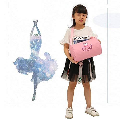 S-tubit Balletttasche Schulter Messenger Tanztasche Pink Toddler Dance Embroidered Tote Gymnastics Taschen für Mädchen Kid Kind