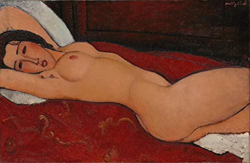 Amedeo Modigliani - Reclining Nude, Size 16x24 inch, Poster Art Print Wall décor