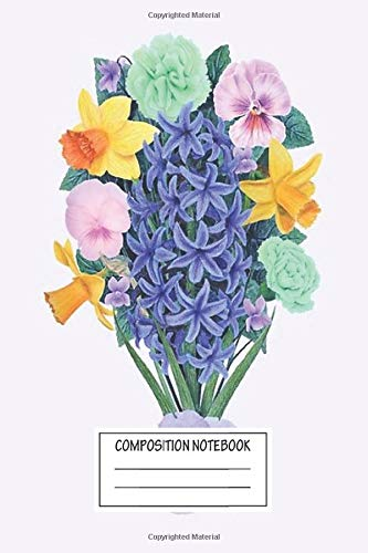 Notebook: Lgbtq+ Flower Bouquet Wide Ruled , Journal for Writing, Size 6' x 9', 110 Pages