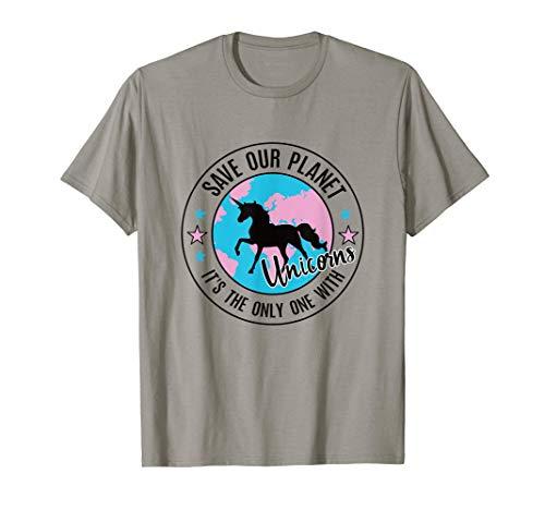 Salvar nuestro planeta Caballo Andaluz Haflinger Unicorn Camiseta