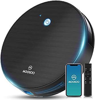 Moosoo Wi-Fi Connectivity Self-Charging Robotic Vacuum Cleaner