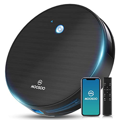 Robot Vacuum, MOOSOO Robotic Vacuum Cleaner, Wi-Fi Connectivity, 1800Pa Suction, Self-Charging,...
