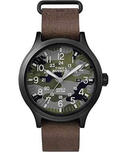 Timex Herren Analog Quarz Uhr mit Leder Armband TW4B066009J