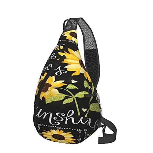 Zaino a tracolla My Sunshine Sunshine Girasole Sling Bag Leggero Impermeabile Borsa a Tracolla Unisex Viaggio Escursionismo Piccolo Zaino Per Donne Uomini Bambini Regali