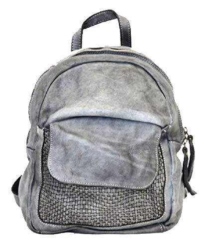BZNA Bag Sam grau Backpacker Designer Rucksack Damenhandtasche Schultertasche Leder Nappa Italy Neu