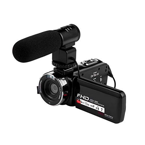 Videocamera, 16X Zoom Fotocamera Digitale, 1080P HD WiFi Grandangolo/Microfono Telecomando Esterno, IPS Morbido Touch Screen Luce,3