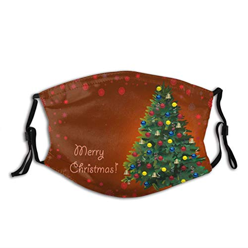 Face Scarf Merry Christmas Tree Ring Bell Unisex Washable Reusable Bandanas