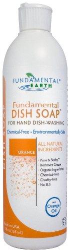 Fundamental Dish Soap - Natural Dish Soap for Hand Dish-Washing (Real Orange Oil)- 12 oz.