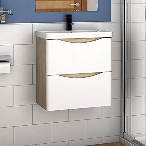 Aica Sanitär Badmöbel Set 50 cm Sofia Waschbecken mit Unterschrank Waschtisch