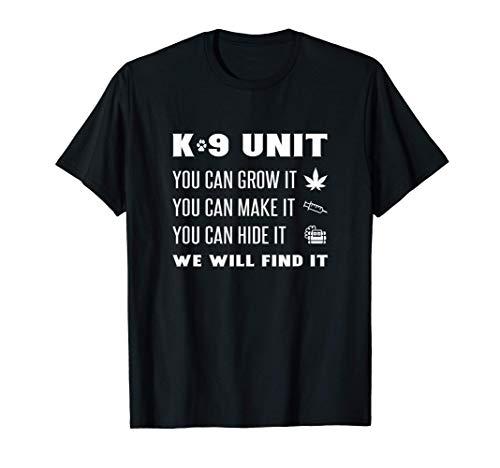Funny K-9 Unit Officer K9 Police Dog Handler Canine Trainer T-Shirt