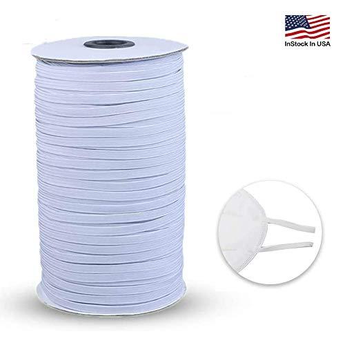 """Elastic Bands for Sewing, 100 Yard 1/4"""" Width Elastic Cord for Sewing and Crafting Elastic for Sewing Crafts DIY, Bedspread, Cuff"""