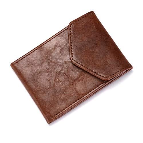 OWENRYIN Men RFID Portafoglio a Blocchi di Blocco ad Alta capacità Vintage PU Borsa in Pelle Slim Change Cambia