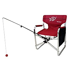 cheap Tuscany Pro Oasis Director Fishing Chair with Rod Holder-Aluminum Premium Folding Chair