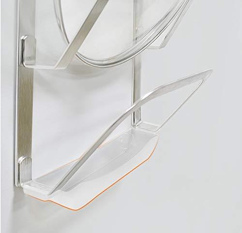 41QZOTI2c4L. SL500  - GFDFD Küchenwerkzeug 3-lagige Anti-Fall-Metalltrocknung Pan Pot Rack Abdeckung Deckel Rest Stand Löffelhalter