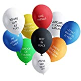 Funny Adult Balloons for Birthday Party | Hilarious NSFW Gag Gift for Parties | 20 Pack | Naughty Abusive Balloons by Shitty Merch