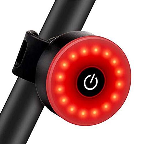 LED-Fahrrad-Rücklicht, ultra-hell, 5 Beleuchtungsmodi, IPX5, wasserdicht, wiederaufladbar über USB, Fahrrad-Rücklicht, Fahrrad-Rücklicht, Sicherheitslicht, Helm-Rucksack, Sport