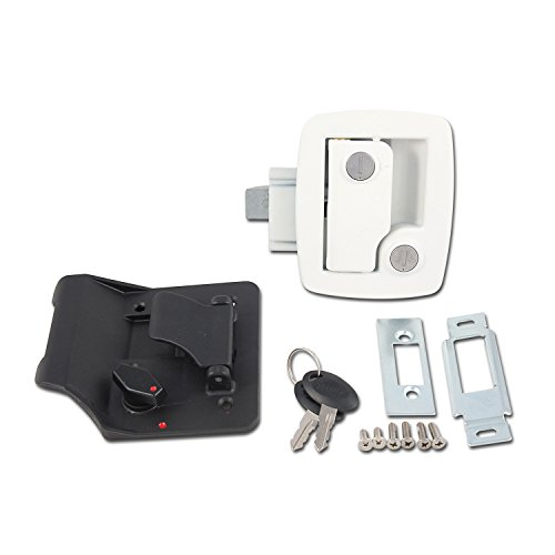 AP Products 013-534 Bauer RV Entry Door Lock, White