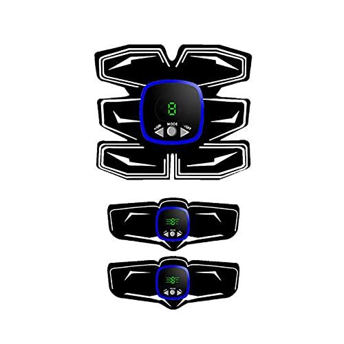 Pkfinrd Entrenador Abdominal Eléctrico, Tóner Músculo Recargable, Máquina de Tóner Músculo, Entrenador Abdominal para Hombres Mujeres, Entrenador Abdominal Tóner Músculo Ems
