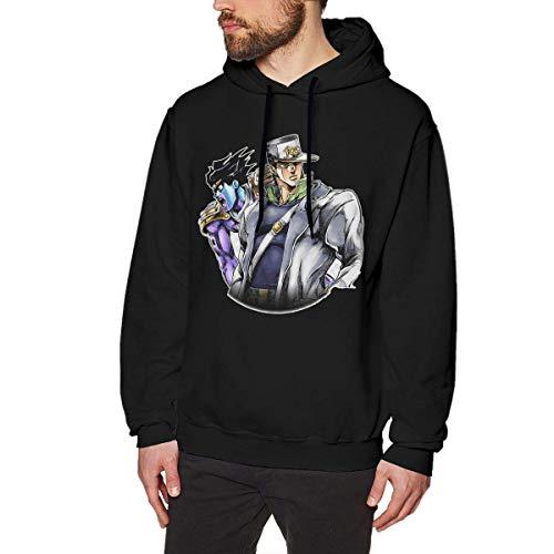 Preisvergleich Produktbild ishengx JoJo 's bizarres Abenteuer Anime Sweatshirt für Männer Hoodies Schwarz