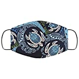 Image of Hawaiian Turtle Island Pattern Adult Face Covering, Reusable, Washable, 2 Layer Breathable Comfort