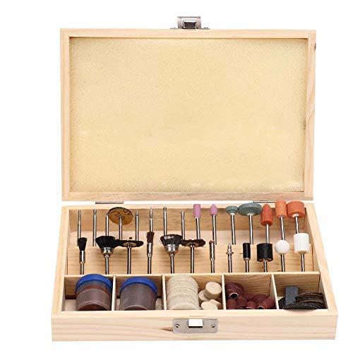 100 PCS Kit de, erramientas de Grabado Práctico Grabado y Esmerilado Joyas de Madera y Juego de Pulido de Jade Kit de Herramientas de Poder Sierra de fresado Lijado Esmerilado Pulido de plástico