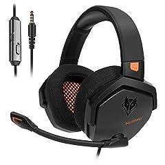 NUBWO PS4 Headset Xbox one Casque stéréo de jeu avec l'abaissement du son et le contrôle en ligne pour PS4 / Xbox 1 / PC