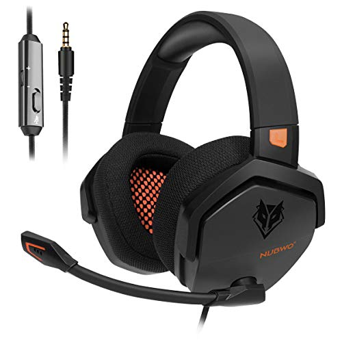 NUBWO PS4 Headset Xbox one Stereo-Gaming-Kopfhörer mit Geräuschunterdrückung und Inline-Steuerung für PS4 / Xbox 1 / PC