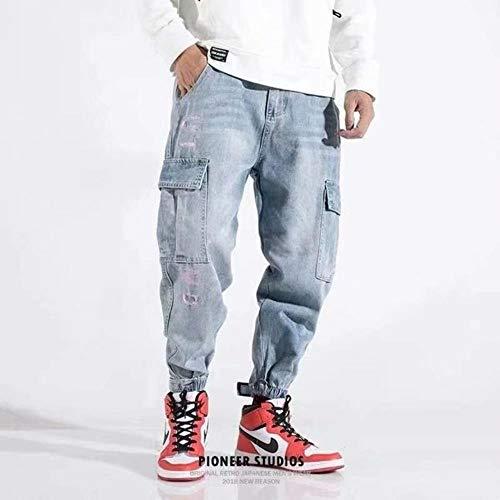 TOSISZ Autumn Street Washing Technology Multi Pocket Men's Jogging Jeans Fashion Casual Men's Pencil Style Jeans
