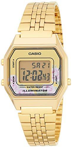 Casio Reloj Digital para Mujer de Cuarzo con Correa en Acero Inoxidable LA680WEGA-4CEF