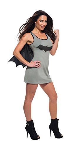 Grijze jurk Batgirl met cape voor vrouw