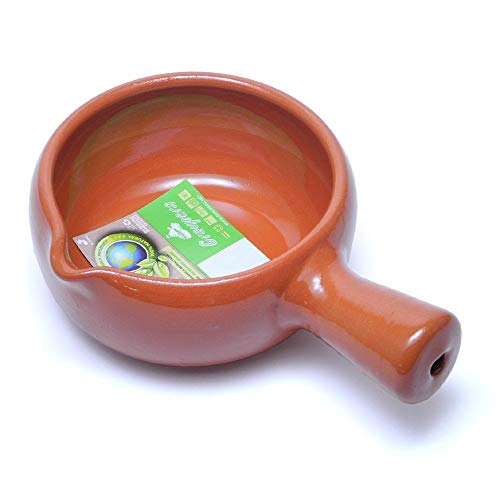 スペイン製 カスエラ 深型 片手鍋 13cm アヒージョ鍋 耐熱陶器製 土鍋 直火 オーブン Graupera