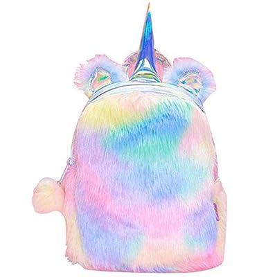 Son Mochila de Unicornio, Unicornio Mochila niñas Mochila Infantiles niños de Peluche Lindo Arco Iris Suave Mochila Mini Unicornio niño Estudiante Viajes (Rosado)