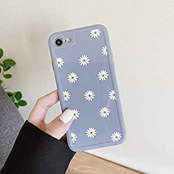 ZTOFERA TPU Back Case for iPhone 7 iPhone 8 iPhone SE 2020 Daisy Pattern Glossy Soft Silicone Case Cute Girls Slim Lightweight Protective Bumper Cover for iPhone 7  4.7   - Grey