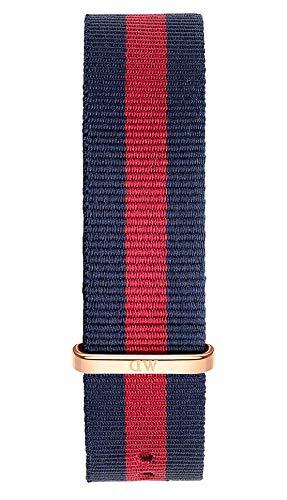 Daniel Wellington Classic Oxford Cinturino Uomo, 20mm, in NATO, Blu/Rosso/Oro Rosato