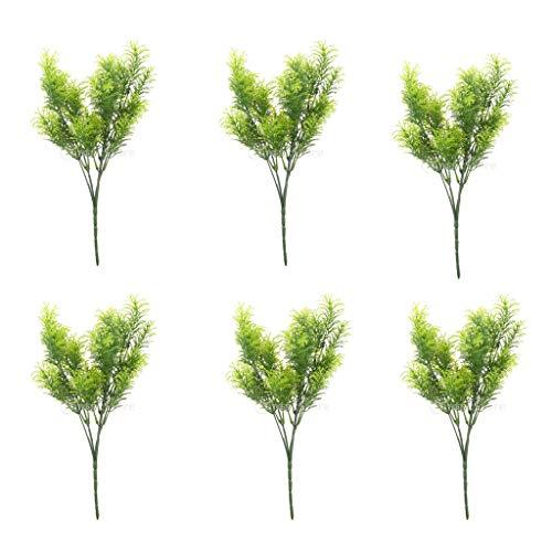 Baoblaze Set 6 Green Artificial Cedar Tree Home Garden Decoration Conifer 30cm