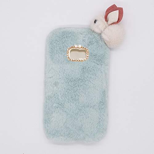 YHY Lindo Conejito para Samsung Galaxy S7 Elegante Funda Peluda de Silicona Teléfono Móvil de TPU Cielo Azul