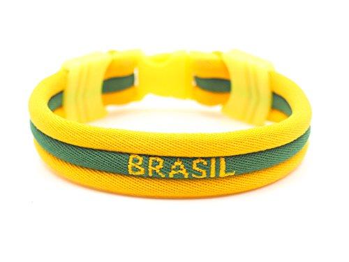 mimonos Brasil - Brazil Flag Bracelet - Vivid Colors - 3 (Brazil, Medium)