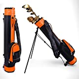Bolso De Soporte De Golf para Mujeres/Hombres, Bolsas De Club De Golf Ultra Light PU Llevar En El Campo De Golf, con Correas para Una Bolsa De Golf Fácil...
