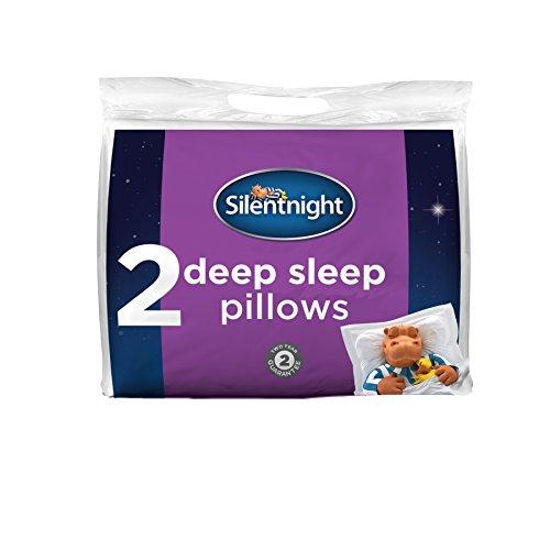 Silentnight Deep Sleep Pillow, White, Pack of 2