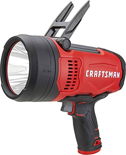 CRAFTSMAN CMXLSB10 Rechargeable 1000 Lumen 10W Lithium Ion LED Spotlight Flashlight with USB Power Charger