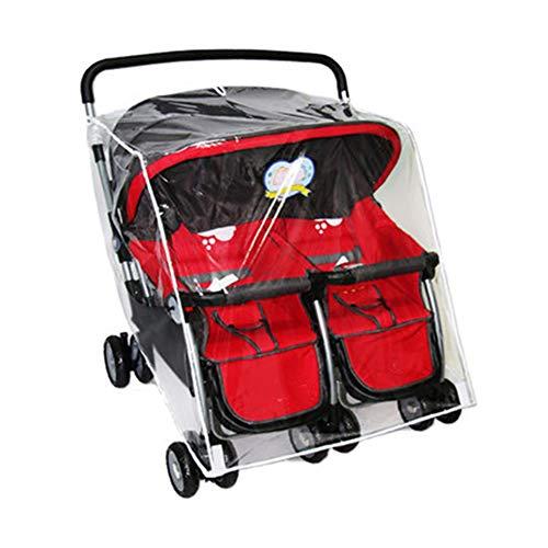 YAJING Protection Contre la Pluie pour siège de bébé Four Seasons Universal Twin Baby Poussette Housse de Pluie Trolley Pare-Brise Pare-Soleil et Sable Housse de Pluie