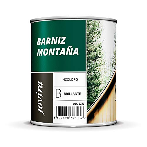 BARNIZ MADERA MONTAÑA (Barniz madera exterior-interior, barniz madera incoloro-transparente). Especial resistencia en zonas montañosas (2,3 Litros, BRILLANTE)