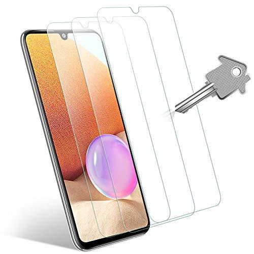 Wonantorna Pellicola Protettiva per Samsung Galaxy A32 Vetro Temperato 6.4'', [3 Pezzi] [Non per Samsung Galaxy A32 5G 6.5''] [9H Durezza] [No Bolle] Pellicola Vetro per Samsung Galaxy A32