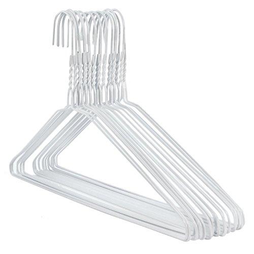 HANGERWORLD 50 Grucce in Metallo Bianco 40cm Salvaspazio Extra Strong per Lavanderia