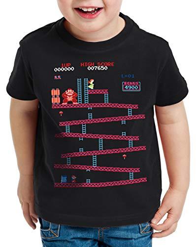 style3 Retro Kong T-Shirt für Kinder Donkey Geek NES Nerd Gamer, Größe:164